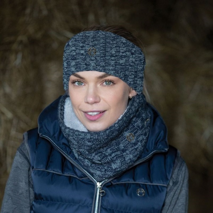 Equetech Blended Cable Knit Headband Grey
